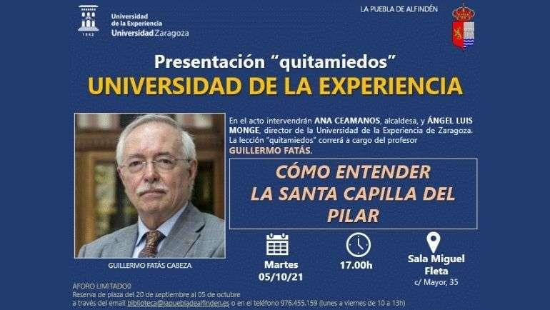 La Universidad de la Experiencia programa una lección quitamiedos con Guillermo Fatás