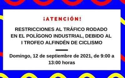 Restricciones al tráfico rodado en el polígono industrial