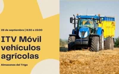 La ITV Móvil para vehículos agrícolas estará el próximo 28 de septiembre en La Puebla e Alfindén