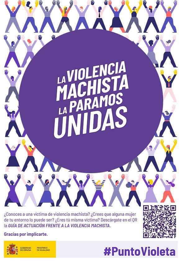 Puntos violetas en La Puebla de Alfindén