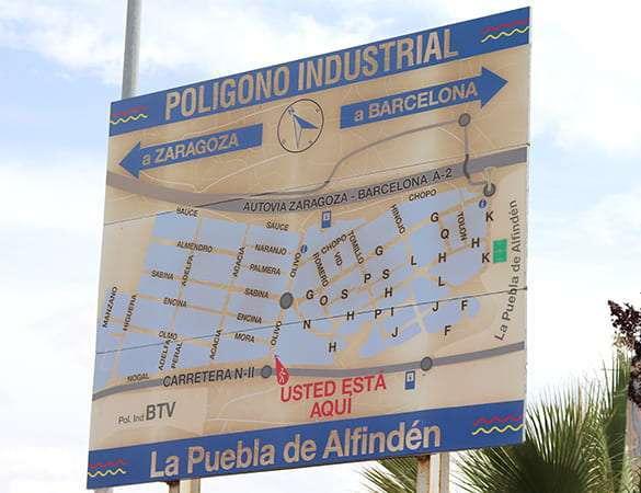 Actividad industrial en La Puebla de Alfindén