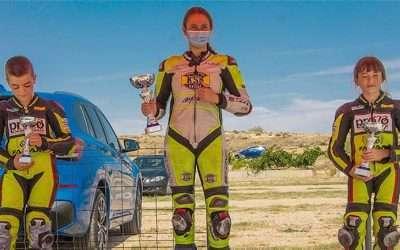 Yaiza Moral consigue el segundo puesto en la primera prueba del campeonato autonómico de motociclismo