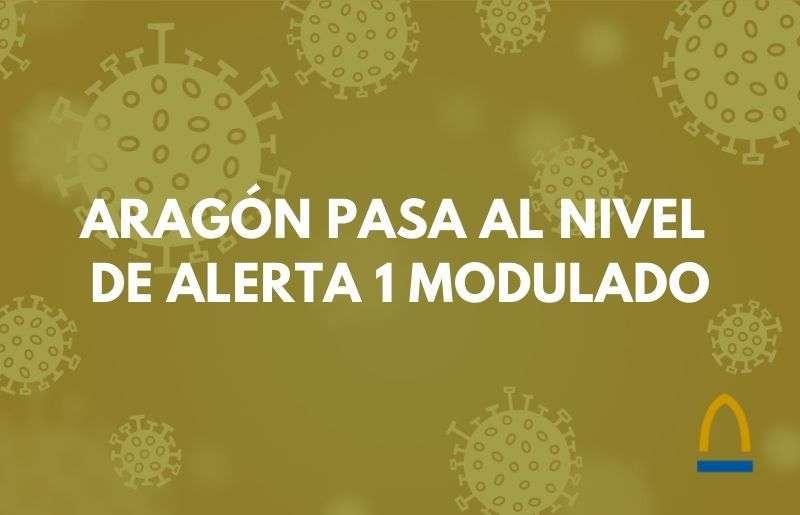 Aragón pasa a nivel de alerta 1 modulado
